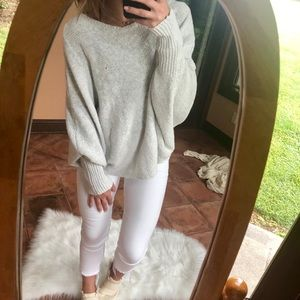 Chunky Oversized Dolman Sleeve Sweater